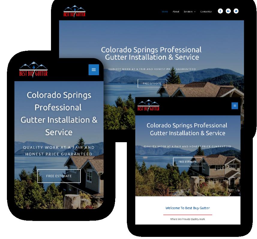 mockup of responsive web design